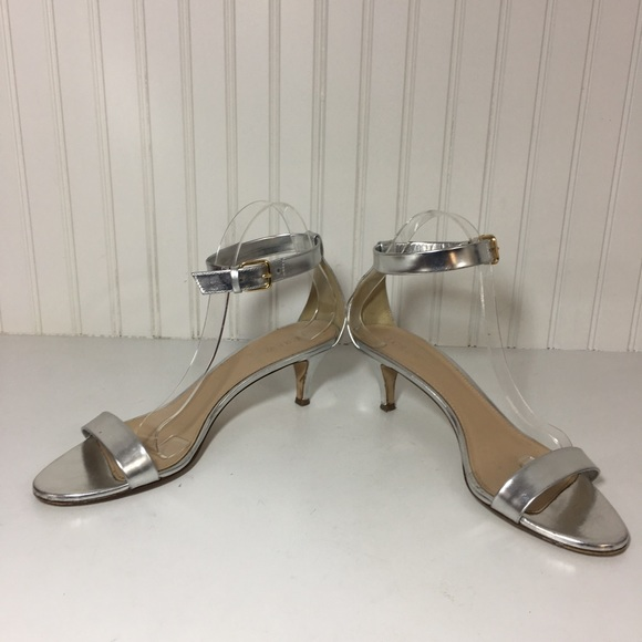 5fdec10ba677 J. Crew Shoes - J.Crew silver mirror Metallic kitten heel sandals